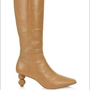 Cult Gaia Lola Bauble-Heel Tall Leather Boots